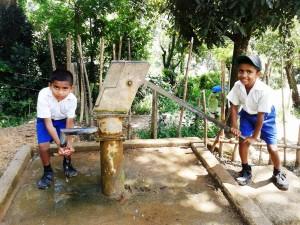 Children at school in Ududumbara, Kandy District