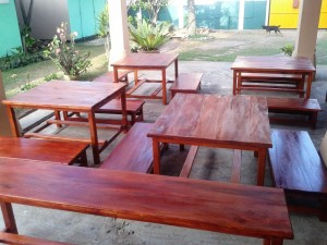 Donated furniture for Meemure play house