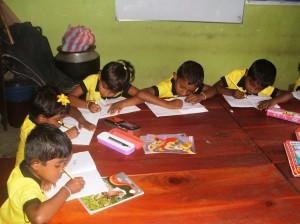 Establishment of play house at Meemure